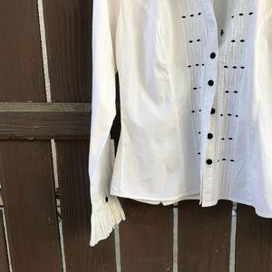 6590a1c0c7011 Vintage Tops - Vintage Nexx Victorian inspired Cotton button